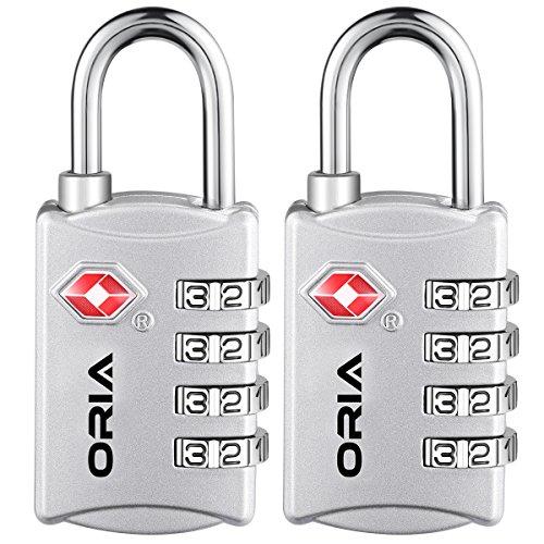 ORIA TSA Lock Approved Locks, 4 Digit Combination Travel ...