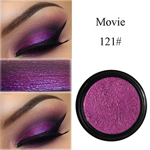Eyeshadow Glitter Powder ,, PHOERA Glitter Shimmering Make Up Eye Shadow Powder Flash Colors Metallic Eye Cosmetic By KingWo (U)