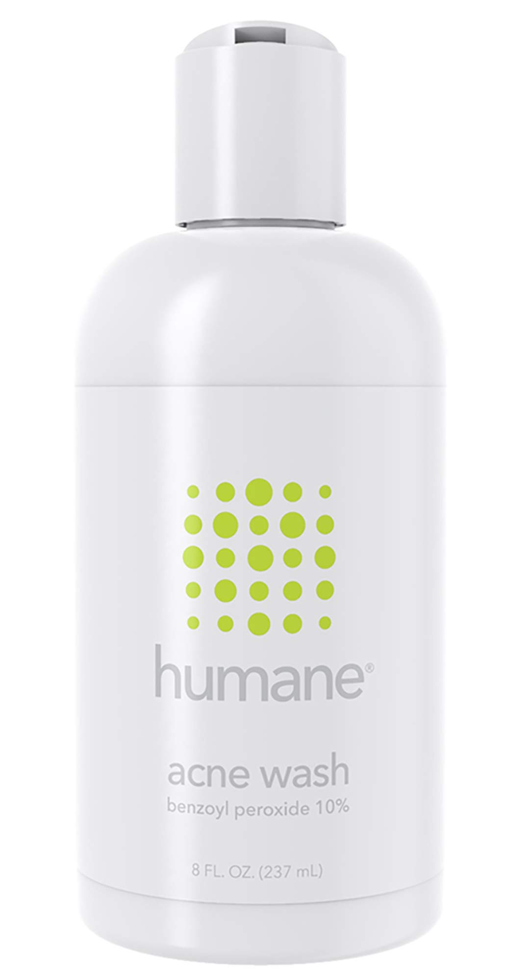 Humane Benzoyl Peroxide 10% Acne Treatment Body & Face Wash, 8 Ounce by humane (Image #1)