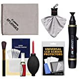 Canon Optical Lens and Digital SLR Camera Cleaning Kit with Brush, Microfiber Cloth, Fluid & Tissue + Kit for EOS 6D, 70D, 7D, 5DS, 5D Mark II III, Rebel T5, T5i, T6i, T6s, SL1