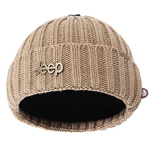 Jeep Wolfskin Winter Warm Twisted Knit Fleece Lined Ski Beanie Hat