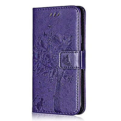 Galaxy J3 2016 Slim Leather Case, Bear Village Magnetic Wallet Cover with Card Holders and Stand Feature, Samsung Galaxy J3 2016 Shockproof Bumper Case, Purple: Baby