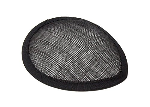 Humboldt Haberdashery Black Sinamay Teardrop Fascinator Hat Base - Available in 16 Colors