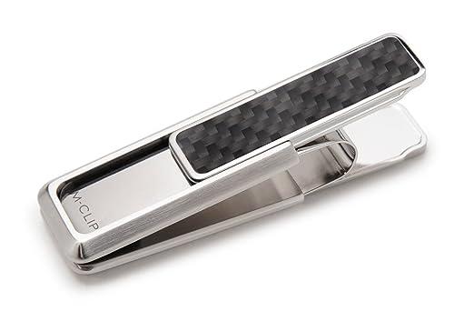 2478a609 M-Clip Money Clip Stainless Steel Black Carbon Fiber Money Clip