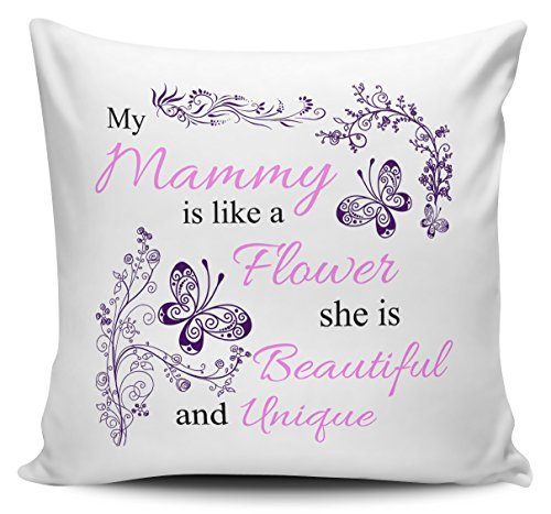 OneMtoss Pillow Covers Decorative My Mammy is Like A Flower Novelty Cushion Cover Canvas Pillow Case 24X24 Inches -