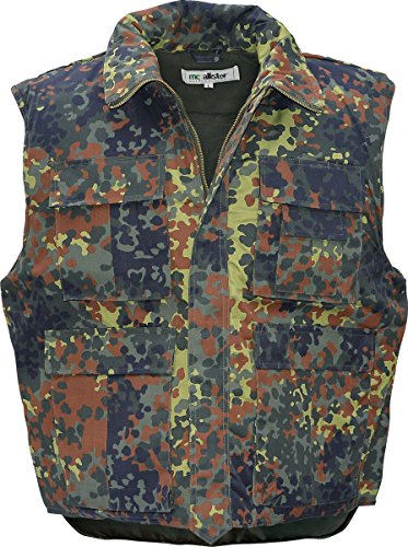 mc allister Ranger Arbeits Weste Stepp Outdoor Flecktarn