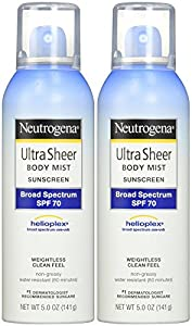 Neutrogena Ultra Sheer Body Mist Sunscreen SPF 70 - 5 oz - 2 pk