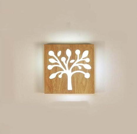 Aplique LED Vintage estilo Industrial aplique madera l/ámparas All/ée Europea noche moderna l/ámpara minimalista Nordic escalera aplique 12/W gjx