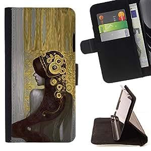 Momo Phone Case / Flip Funda de Cuero Case Cover - Chica Bling Pintura tiara de la manera atractiva - Sony Xperia M5
