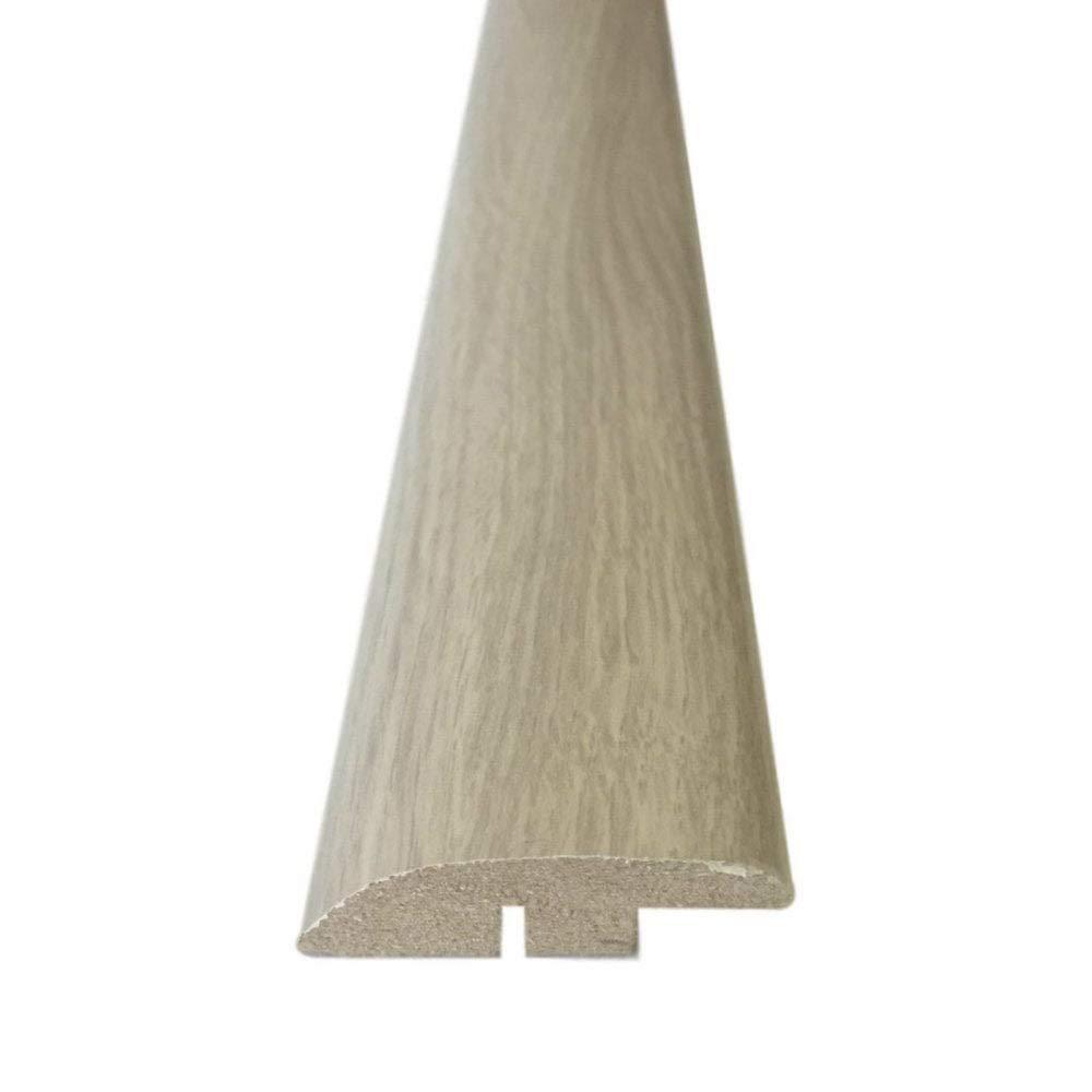900mm, Washed Grey Oak Ramp Edge Threshold Door Bar Trim Profile for Laminate and Wood Flooring