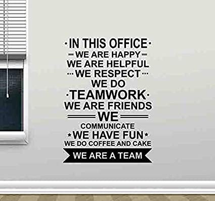in this office wall decal we are a team teamwork quote sign motivational gift inspirational lettering