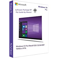 WINDOWS 10 PRO 32/64 BIT - RETAIL- AGGIORNABILE DA HOME - Licenza Elettronica inviata in giornata tramite email Amazon + Guida