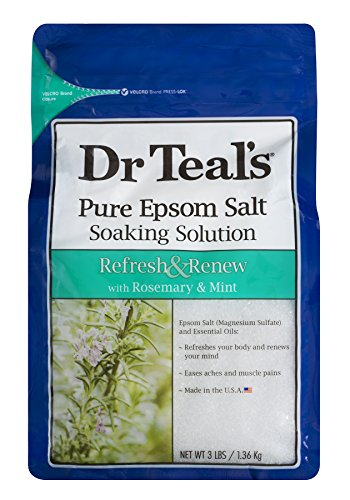 - Dr Teal's Epsom Salt Soaking Solution, Rosemary and Mint, 3lbs