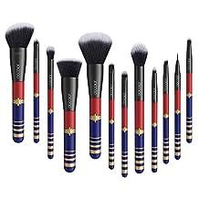 Docolor 12 Pieces Makeup Brushes Starlight Goddess Professional Makeup Brush Set Face Powder Foundation Blending Blush Contour Concealer Eye Shadow Eyeliner Make Up Brushes Kit