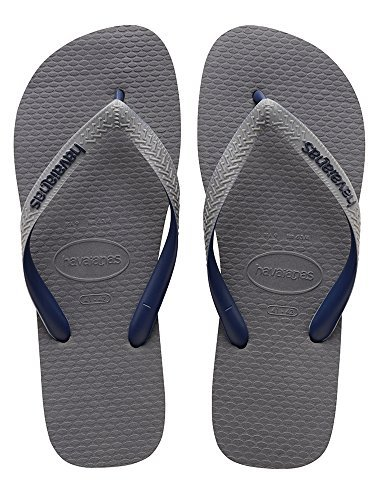 da877ba549dd Galleon - Havaianas Men s Top Logo Filete Mix Sandal Steel Grey 39-40 BR 8  D(M) US