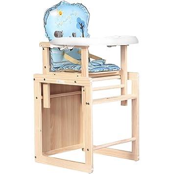 Amazon.com: Byx - Silla de comedor infantil de madera maciza ...