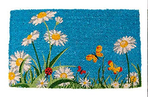 Door Mats - Flower Garden Coir Doormat - 18