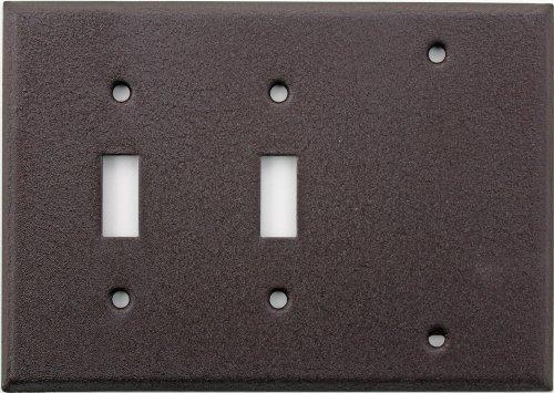 Brown Wrinkle 3 Gang Wall Plate - 2 Toggle 1 One Blank