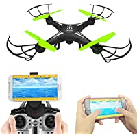 Spy Camera Drone Skyking S-08W Quadcopter with HD Camera Wifi FPV Headless 2.4GHz RC Auto-return Altitude Hold and Live Video Recording Outdoor Flyer