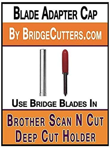 Brother Scan N Cut Replacement Blade Adapter Works in Deep Cut Holder into Universal Blade Holder Adapter to use Bridge Deep Cut Standard German Carbide Blades