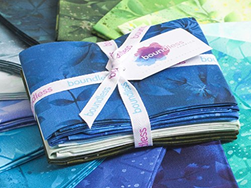 Craftsy Boundless Blenders Botanical Sea Grass Precut Fabric (Fat (0.25 Yard Bundle)
