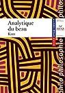 Analytique du beau, textes philosophiques par Kant