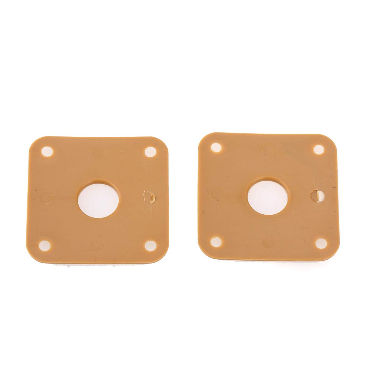 Cream Set of 2 Musiclily Pro Plastic Curved Jack Plate Square Jackplate for Gibson Epiphone Les Paul Guitar