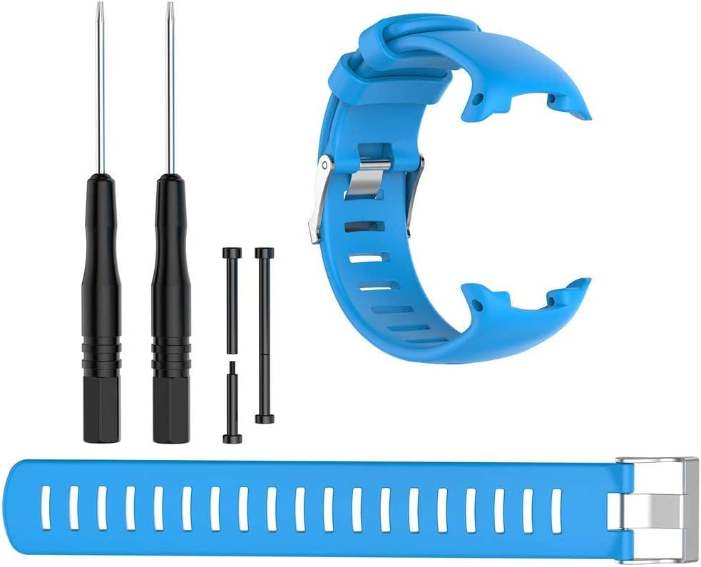 Para Suunto D4 D4I Reloj de buceo Novo Correa de silicona Distribución Extensión Cinturón azul cielo
