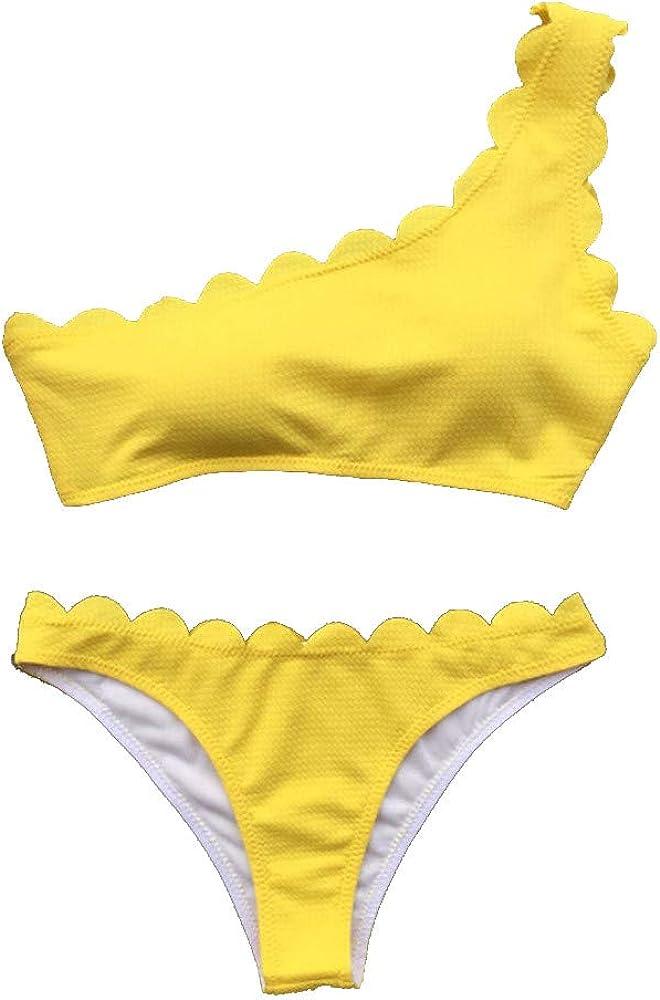 ASHOP bañador natacion 2019 Bikini Mujer Push up Tankinis Tallas Grandes Prime Traje de baño niña Licra mangalarga Monokini Manga Larga (Amarillo, S): Amazon.es: Ropa y accesorios