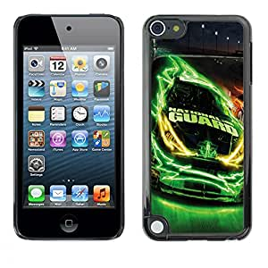 CASECO - Apple iPod Touch 5 - NASCAR National Guard - Delgado Negro Plástico caso cubierta Shell Armor Funda Case Cover - Guardia Nacional de NASCAR