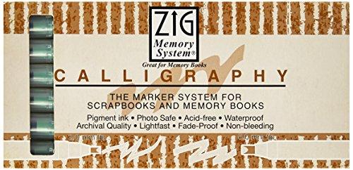 Zig Memory System Calligraphy Dual Tip Marker, Sagebrush (6 Pack)