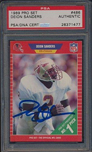 Deion Sanders Autographed Pro Football - 1