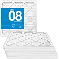 20x25x1 MERV 8 Pleated Air Filters - 20 x 25 x 1 (6-Pack) - Premium Furnace, Air Conditioner and HVAC Filter - Blocks Dust, Mites, Pet Dander, Lint, Pollen - Universal Compatibility - MervFilters