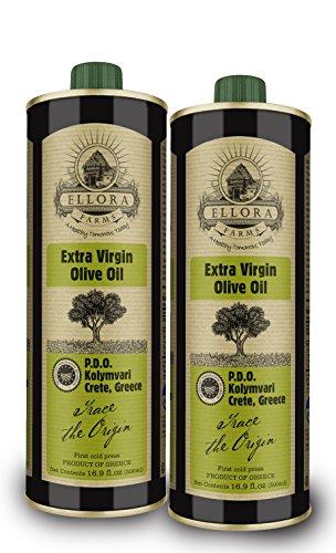 Extra Virgin Italian Olive Oil (Ellora Farms | Certified Single Estate & Single Origin 500ml | 100% Traceable EVOO | Fresh Harvest & Cold Extracted | Non GMO and Kosher
