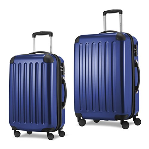 HAUPTSTADTKOFFER Luggages Sets Glossy Suitcase Sets Hardside Spinner Trolley Expandable TSA (20'24') Darkblue by Hauptstadtkoffer
