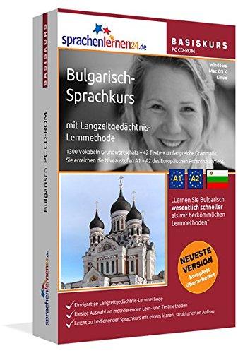 Bulgarisch-Basiskurs mit Langzeitgedächtnis-Lernmethode von Sprachenlernen24: Lernstufen A1 + A2. Bulgarisch lernen für Anfänger. Sprachkurs PC CD-ROM für Windows 10,8,7,Vista,XP / Linux / Mac OS X