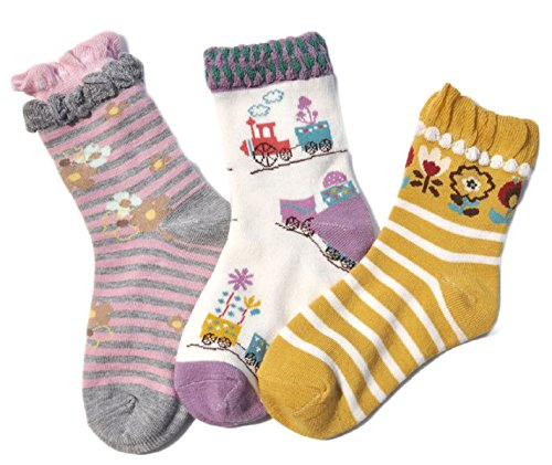 Lovely-Annie-Girls-3-Pairs-Pack-Cotton-Crew-Socks-3-Sizes0Y-8Y
