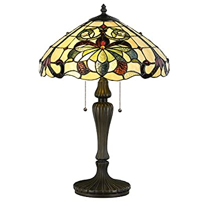 Cloud Mountain Tiffany Style Table Lamp Victorian Stained Glass Home Décor Desk Lamp