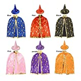 Children Costumes Stars Style for Halloween and Christmas Sorcerer/Halloween Cloak with Hat