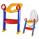 LOZ Baby Ladder Toilet Ladder Chair Toilet Trainer Potty Toilet Seat Step up Toddler Toilet Training Step Stool for Girls and Boys: more info