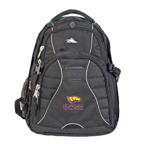 - UW Stevens Point High Sierra Swerve Compu Backpack 'Dog Head UWSP'