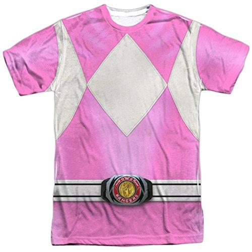 Power Rangers- Pink Ranger Costume Tee T-Shirt Size (Zordon Power Rangers Costume)