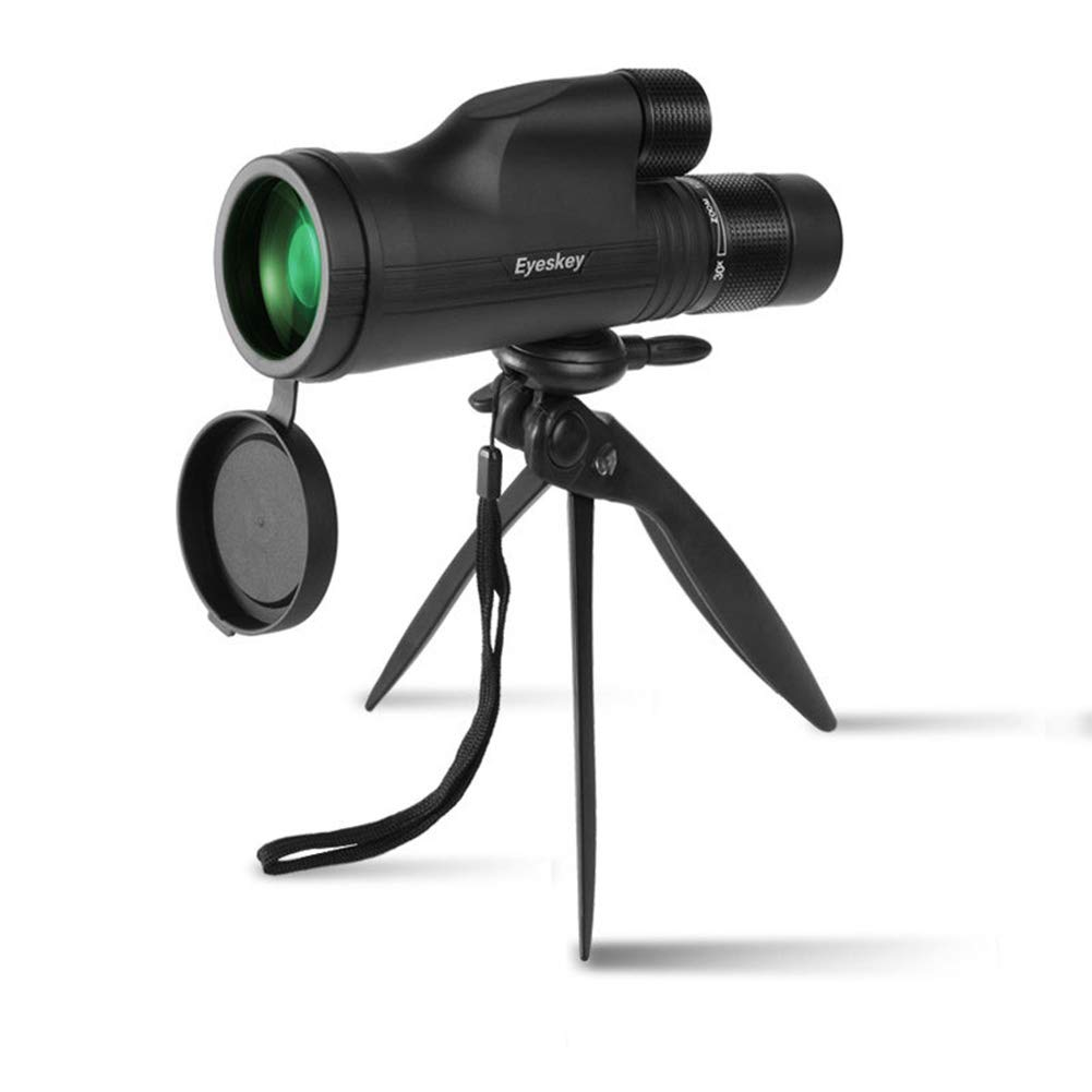 WMC 10-30X50 HD Zoom High Power Monoculars Telescopes, Low Light Night Vision Monoculars for Mobile Phone Photo and Outdoor (Black) by WMC (Image #2)