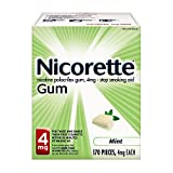Nicorette Nicotine Gum Fresh Mint 4 milligram Stop Smoking Aid 170 count