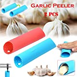 Silicone Garlic Peeler, JDgoods Garlic Peeler Silicone Tube Roller And Press, Soft Chef Garlic Peelers Set Of 2