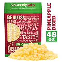 Sincerely Nuts Dried Pineapple Diced - T...