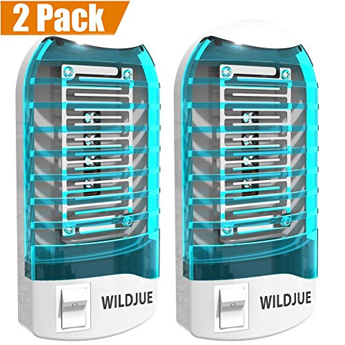 WILDJUE Bug Zapper Electronic Insect Killer[2-Pack] Mosquito Killer Lamp,Eliminates Most Flying Pests! Night Lamp