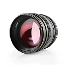 SainSonic Kamlan 50mm F1.1 APS-C Large Aperture Manual Focus Lens, Standard Prime Lens for Sony E-Mount Mirrorless Camera