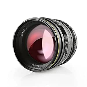 SainSonic Kamlan 50mm F1.1 APS-C Large Aperture Manual Focus Lens, Standard Prime Lens for Sony E-Mount Mirrorless Camera