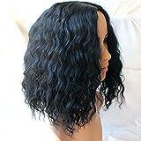 QDBowin Queen Hair Black Short Natural Wave Wig BOb Wig Attractive Women Wavy Wig